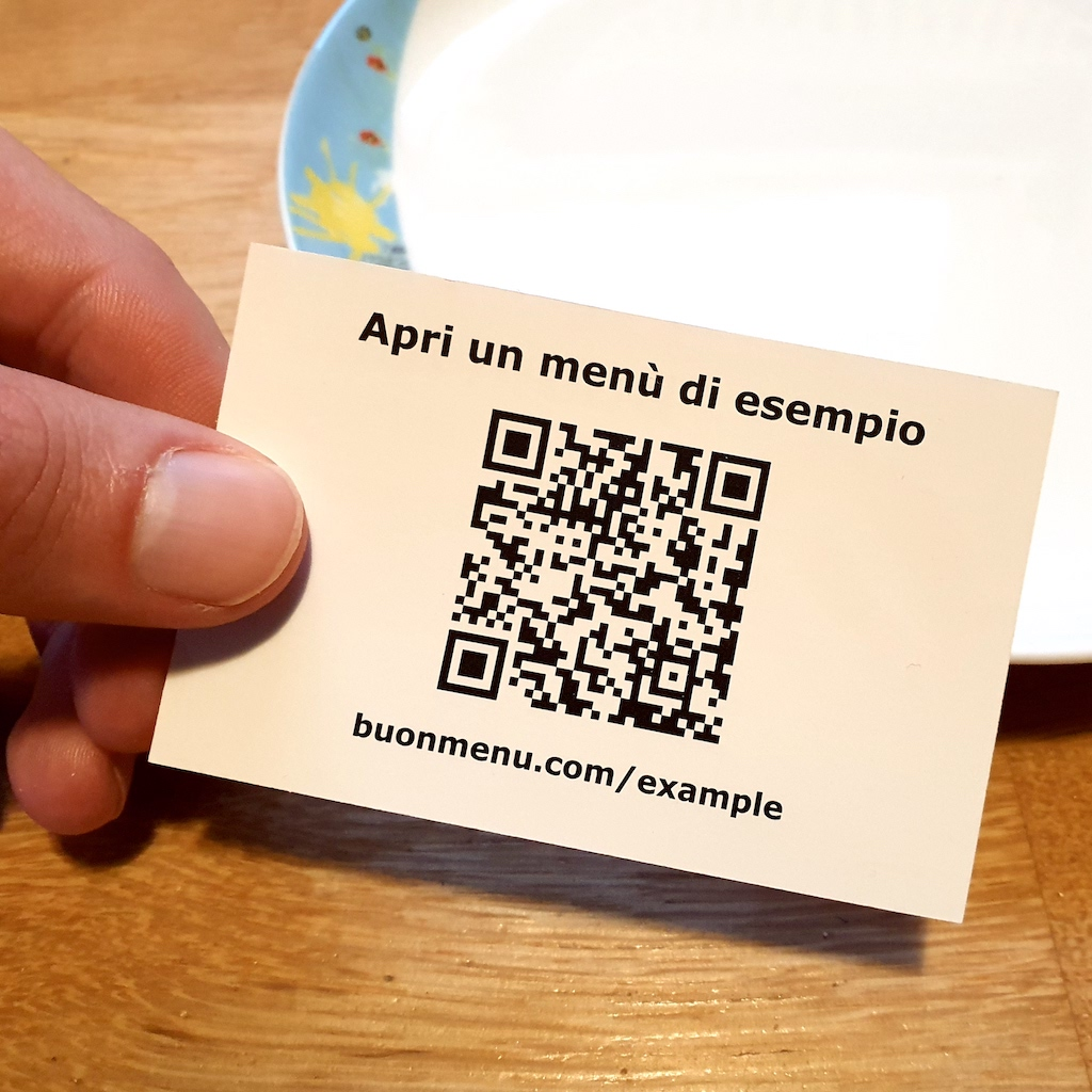 Open menu with QR code