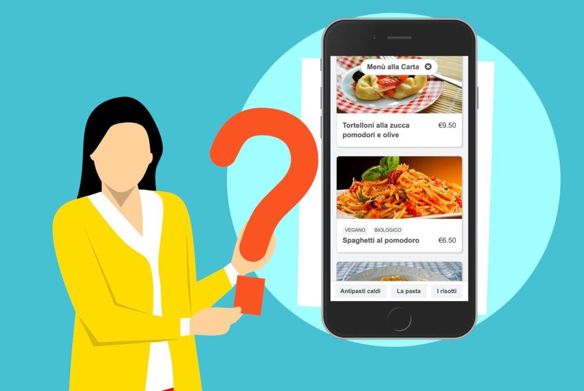 Guida al menu online