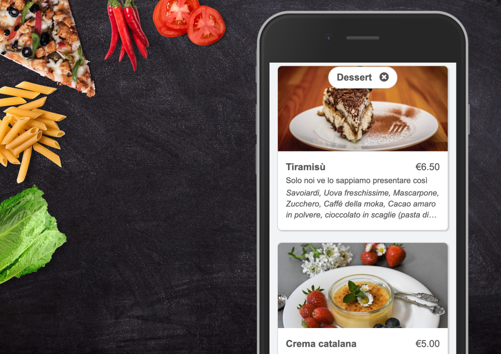 Design an online menu for your restaurant