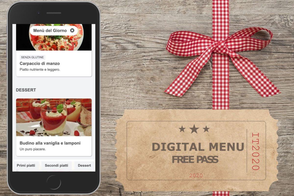 Free digital menu