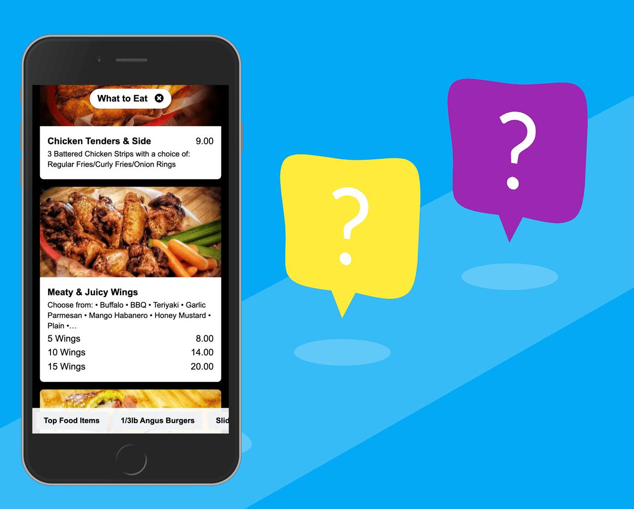 Questions about digital menus