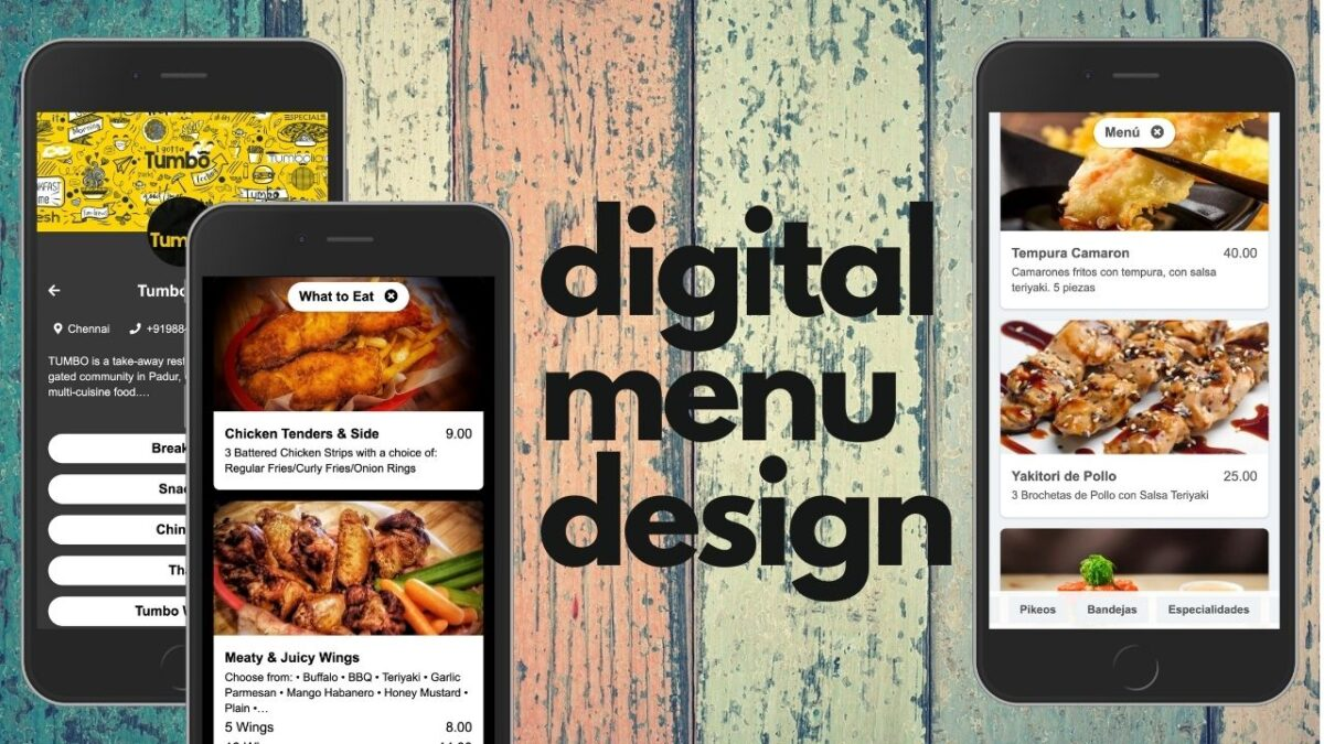 Design tips for creating the perfect digital menu