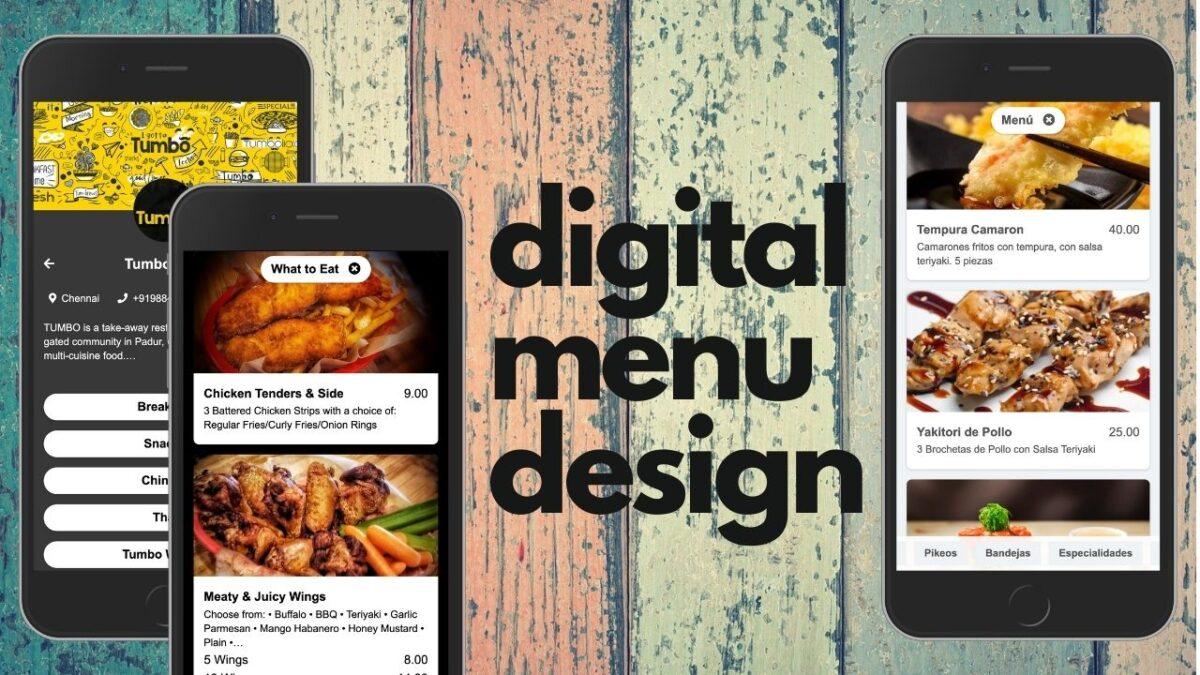 Digital menu design examples