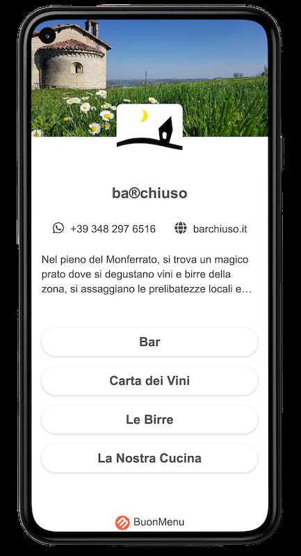 Menu on smartphone example (bar)