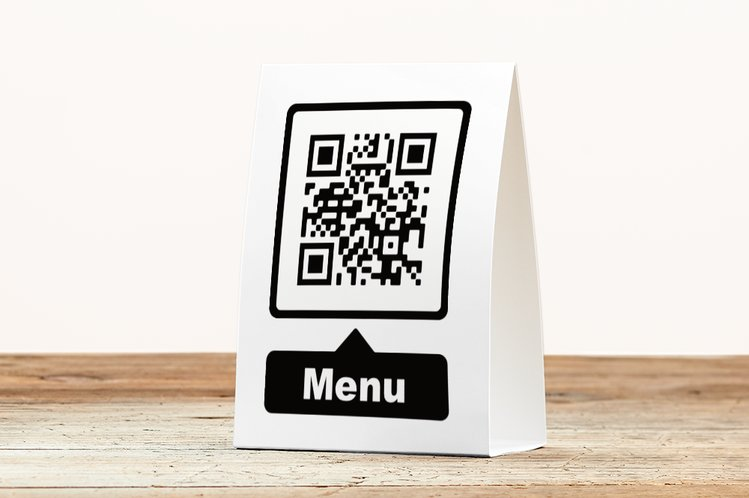 Table tent with QR code menu